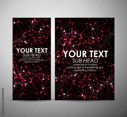 Brochure business design. Abstract red modern Circle background.