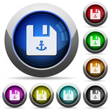 Link file round glossy buttons