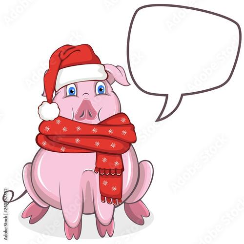 Cute cartoon pig - 240357352