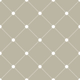 Geometric dotted vector white pattern. Seamless abstract modern texture for wallpapers and backgrounds - 240379121