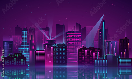 Vector City neon - 240412908