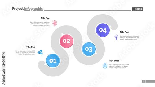 Four Points Process Chart Slide Template Business Data Point Infochart Design