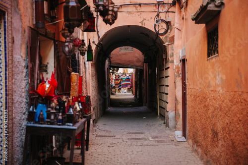 alleyway in Marrakesh, Morocco - 240421593