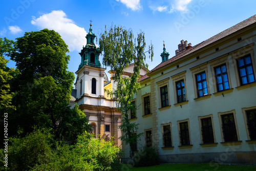 obraz PCV The Jagiellonian University in Krakow Poland .It was here that Copernicus discovered the earth moves around the sun.