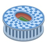 Circle sport arena icon. Isometric of circle sport arena vector icon for web design isolated on white background