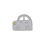 Vector hand drawn car
