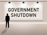 Government Shutdown Notice Means America Closed By Senate Or President - 240459129