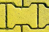 Gelbe  Pflastersteine, Steintextur