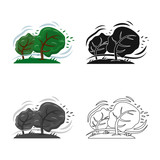 Vector illustration of natural and disaster sign. Collection of natural and risk stock vector illustration. - 240466138