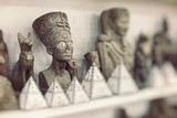 Egyptian traditional culture souvenirs. Selective Focus.