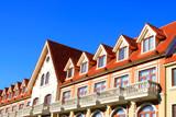 Loft exotic landscape architecture and small attic window - 240481167
