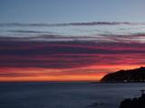 tramonto invernale in liguria