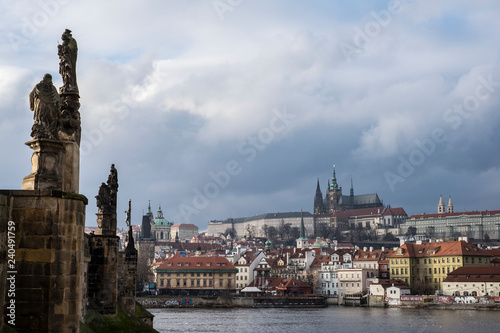 mata magnetyczna Prague castle and Charles bridge, Czech repubblic