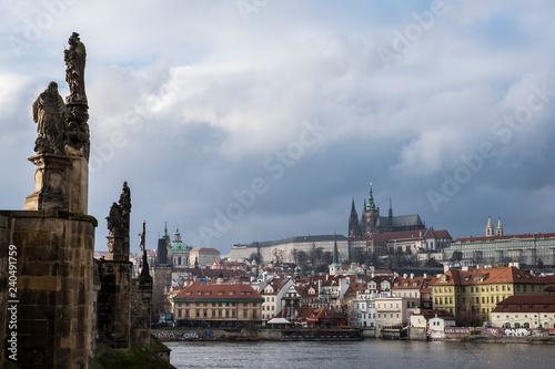 obraz PCV Prague castle and Charles bridge, Czech repubblic