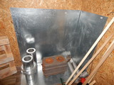 Installation of the furnace for firewood in a house