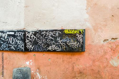 Bullshit graffiti