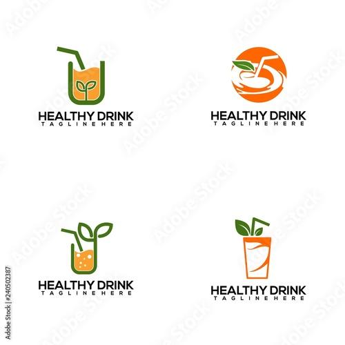 Healthy drink logo