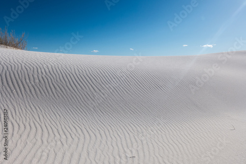 sand dunes and blue sky