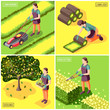 Landscaping Isometric Design Concept