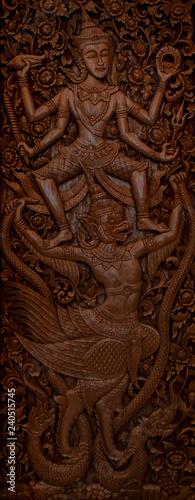 buddhistische Wandmalerei mit Struktur und Details - Thailand - 240515745