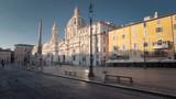 hyper lapse. Piazza Navona, Rome. Italy  - 240523327
