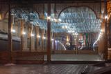 street restaurant night  area with illuminations
