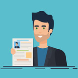 business man with curriculum vitae - 240532546