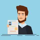 business man with curriculum vitae - 240532560