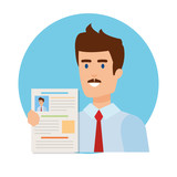business man with curriculum vitae - 240532573