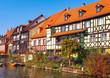 Leinwanddruck Bild - Bamberg Klein-Venedig