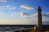 夕暮れ時の爽やかな野間灯台 - 240536957