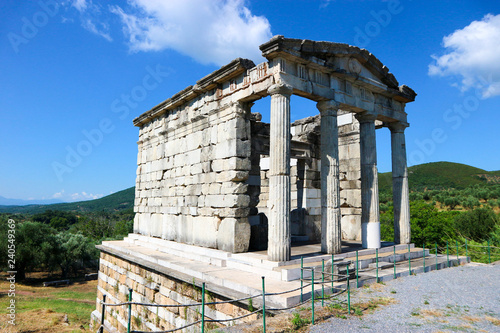 Doric temple, mausoleum of the Saithidae, a prominent Roman family, ancient Messini, Peloponnese, Greece