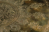 Eastern engraving on bronze, close-up - 240555313