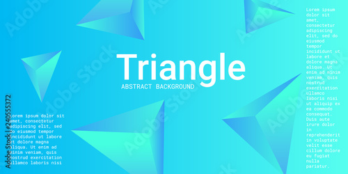 Triangle background. Abstract composition of triangular pyramids.