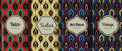 vintage seamless patterns - 240561166