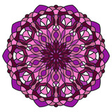 Mandala flower freehand drawing vintage style decorative pattern elements isolated on white background for abstract concepts