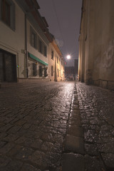 Kraków nocą Izzaka