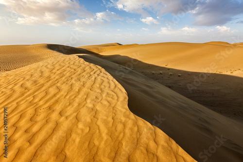 Sand dunes in desert - 240572991