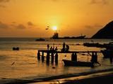 Sunseet in the caribbean sea, Los Roques, Venezuela