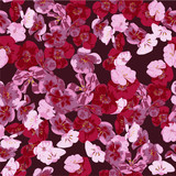beautiful seamless pattern of pink and red geranium flowers for fabric decoration