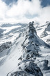 Leinwanddruck Bild -  Aerial landscape view of the beautiful snow covered mountains National park Alps in Rakousko,  Picture taken in the mountain Zillertal Arena Tirol, Austria Europe