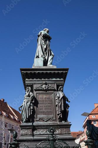 A fountain of Archduke John at Graz