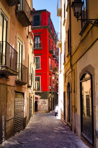 narrow street in salerno  - 240659115