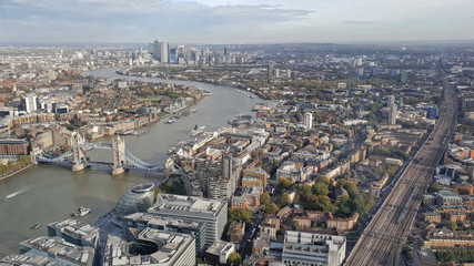 View of London from above - United Kingdom