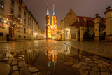 Cathedral in the historic part of the city. Wroclaw, Poland.