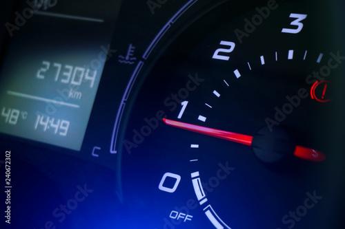 Modern car speedometer - 240672302