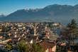 aerial view of Ascona, Switzerland - 240674764