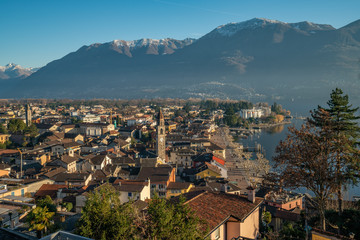 aerial view of Ascona, Switzerland © Ksenia Molina