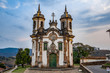 Leinwanddruck Bild - Church of St. Francis of Assisi, Ouro Preto