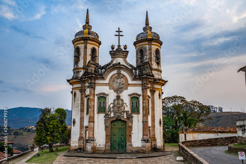 Leinwanddruck Bild Church of St. Francis of Assisi, Ouro Preto
